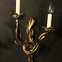 French 19th Century Pair of Bronze Antique Wall Sconces (3 of 10)