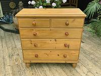 Fabulous & Large Old Pine Chest of Drawers (2 of 8)