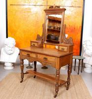 Dressing Table Burr Walnut Mirrored 19th Century (7 of 9)