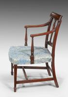 George III Period Mahogany Framed Elbow Chair (2 of 5)