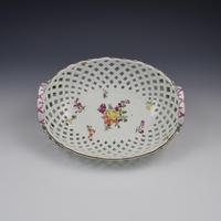 Fine Large Chelsea Red Anchor Porcelain Basket c.1750-1758 (2 of 18)