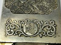 Set of 4 Antique Chinese Silver Zu Yin Hallmarked Scroll Weight Plaques Guangxu (4 of 12)