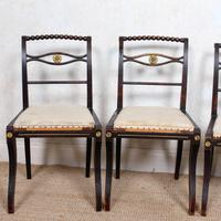 4 Regency Ebonised Dining Chairs Trafalgar (4 of 12)