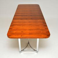 Merrow Associates Rosewood & Chrome Dining Table by Richard Young (9 of 14)