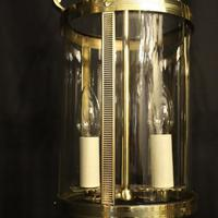 French Pair of Convex Twin Light Antique Lanterns (8 of 10)