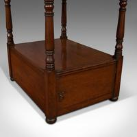 Antique Whatnot, English, Mahogany, Four Tier, Display Stand, Victorian c.1850 (10 of 12)