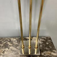 Pair of Chrome & Brass Rodded Table Lamps (6 of 9)