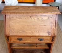 Oak Bureau Arts & Crafts Writing Desk Chest Edwardian Slim (5 of 12)