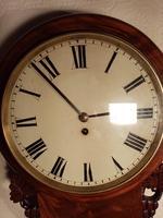 Mahogany Drop-Dial Wall Clock