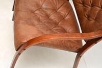 Pair of Scandinavian Bentwood & Leather Vintage Armchairs (9 of 14)