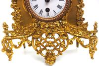 Superb Timepiece Mantle Clock -  Antique 8 Day French Poet Figural Ormolu Mantel Clock (7 of 11)