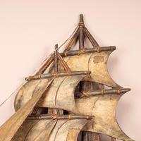 Carved Wooden Galleon Model (7 of 9)
