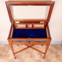 Fine Quality Edwardian Inlaid Mahogany Bijouterie Display Table (6 of 18)