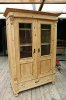 Fabulous Old Pine 'Knock Down' Glazed Display Cabinet (2 of 10)