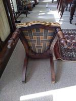 Victorian Mahogany  Upholstered Prayer Chair (8 of 8)