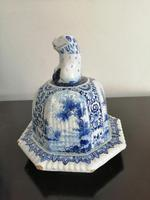 Imposing 19th Century Dutch Delft Blue & White Vase & Cover (10 of 15)