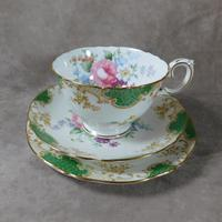 Crown Staffordshire, Fine Bone China Trio, Pattern No F15971 (8 of 9)