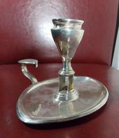 18th Century Luke Proctor Solid Silver Eagle Crested Oval Chamberstick (6 of 12)