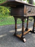 Antique Carved Oak Hall Side Table (4 of 11)