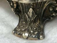 Fine Large English Georgian Revival Silver Plate Acanthus Repousse Meat Salver (6 of 12)