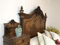 Antique French Stunning Huge Oak Bed Frame & Pot Cupboard (9 of 16)