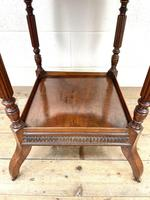 Late Victorian Walnut Octagonal Centre Table (8 of 10)