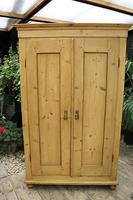 Fabulous! Georgian! Old Pine Two Door Cupboard with Shelves - We Deliver! (2 of 15)