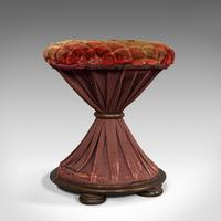 Antique Upholstered Stool, English, Walnut, Footstool, Tabouret, Regency, 1820 (7 of 9)