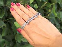 5.25ct Diamond & Platinum Bracelet - Art Deco c.1925 (2 of 12)