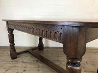 Early 20th Century Antique Oak Refectory Table (M-1739) (11 of 16)