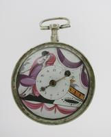 Silver Romilly Open Face Verge Pocket Watch France 1780