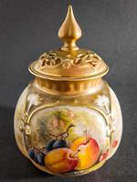 Royal Worcester Fruit Painted Pot & Cover (6 of 6)