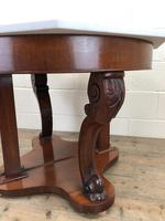 Pair of Demi Lune Tables with Marble Tops (5 of 10)