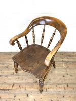 Antique 19th Century Smoker's Bow Chair (7 of 9)