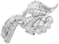5.90ct Diamond & Platinum Tassel Earrings - Vintage c.1950 (4 of 9)