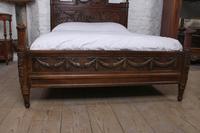 Fabulous Renaissance Style Oak Carved Double Bed (3 of 11)