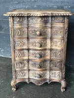 Antique Bleached Oak French Chest of Drawers (3 of 8)
