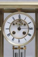 French Brass Four Glass Mantel Clock by Samuel Marti (3 of 7)