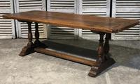 French Oak Farmhouse Refectory Dining Table (12 of 20)