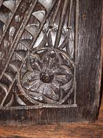 c.1570 A.D. English Tudor Carved Oak Wooden Panel (5 of 11)