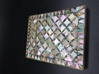 Good Late 19th Century Mother of Pearl & Abalone Pearl Card Case (3 of 4)