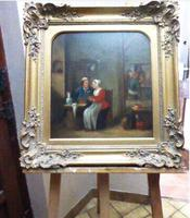 David Teniers The Younger 'After' Dutch Genre Tavern Interior Scene 17th Century Oil Portrait Paintings (4 of 13)