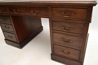 Antique Victorian  Mahogany Pedestal Desk (6 of 12)