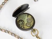 Antique Eterna Schild Fréres  gun metal pocket watch (2 of 4)