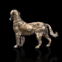 Antique Retriever Statue, English, Brass, Decorative, Dog Ornament, Victorian (7 of 12)