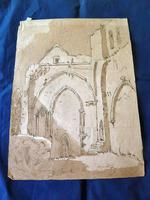 """18th Century Old Master Pen & Ink """"Ruins"""" (3 of 6)"""