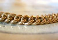 Victorian Pocket Watch Chain 1890s Antique 12ct Rose Rolled Gold Albert & T Bar (9 of 10)