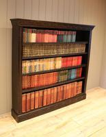 Large Victorian Open Dark Oak Bookcase (9 of 10)