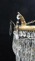 Italian Art Deco Five Tier Crystal Glass Chandelier, 1930s (5 of 7)
