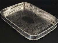 Vintage Silver Plated Oblong  Gallery  Tray (2 of 4)
